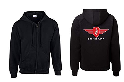 Textilhandel Hering Jacke - Zündapp mit Logo und Schrift (Schwarz, XXL)