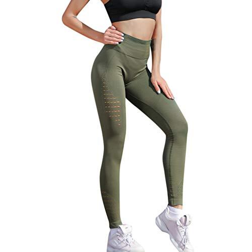Lialbert Leggings Ouvert Damen Push Up Highwaist Sporthose Lang Sommer Jogginghose Frauen Einfarbig Stretch Yogapants Slim Fit Sport Tights...