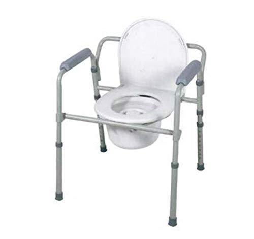 Sedia comoda multifunzione 4 in 1 Pieghevole - Rialzo wc e sedile per doccia