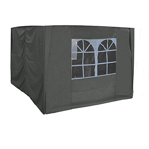 Greenbay 2.5x2.5m Pop Up Gazebo 4 Side Curtains Replacement Only Canopy Side Covers Anthracite