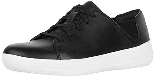 FitFlop F-Sporty Laceup Sneaker, Zapatillas para Mujer, Negro, 37...