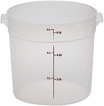 Cambro Camwear 6-Quart Round Food Storage Container