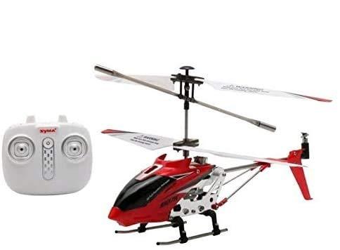 s-idee Syma S107H Heli - Elicottero radiocomandato, colore: Rosso