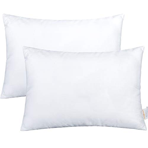 NTBAY 2 Pack Cotton Down Alternative Toddler Pillows, Soft and Comfortable Baby Small Pillows for Sleeping, Ideal for Daycare, Baby Cribs, Toddler Beds and Car Rides