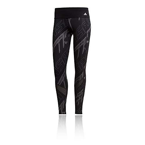 adidas Own The Run Tgt, Leggings Sportivi Donna, Black/Grey Five/DGH Solid Grey, S
