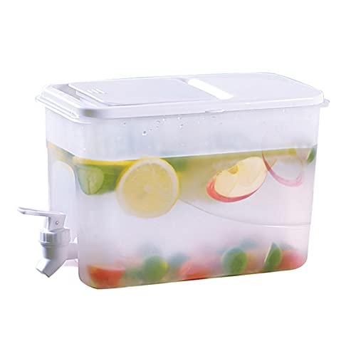 HIFONI Wasserspender, 4 Liter Getränkespender Mit Tropfsicheren Zapfhahn, Haushalt Große Kapazität Limonadenspender Mit Deckel, Wasserkocher Mit Kühlschrank Verwendet, Um Saft Zu Machen