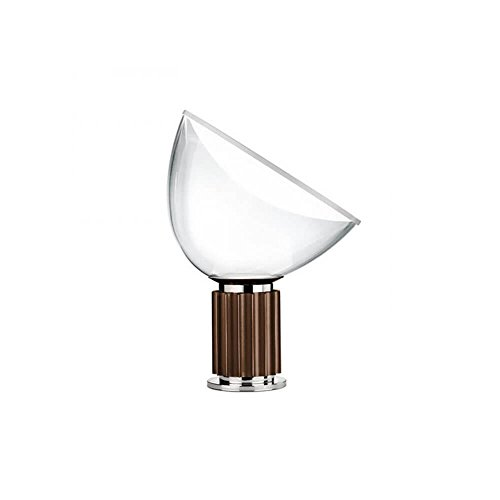 Taccia SMALL LED tafellamp, glas, 16 W, brons, 373 x 142 x 485 mm