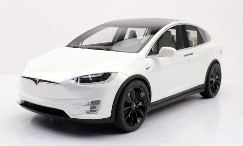 Tesla Model X P100D, metallic-Weiss, 2016, Modellauto, Fertigmodell, Lucky Step Models 1:18