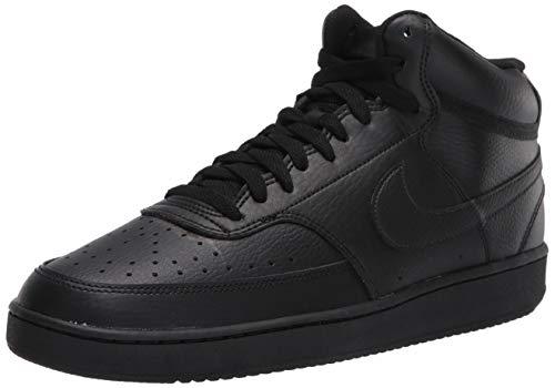 Nike Herren Court Vision MID Basketballschuhe, Black, 43 EU