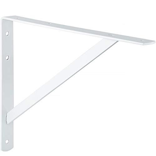 Gedotec Schwerlast-Konsole | Wand-Winkel | Athena | Tiefe 400 mm | Schwerlast-Träger weiß | Tragkraft 300 kg | Regal-Halter Stahl massiv | 1 Stück - Regalträger für die Wandmontage