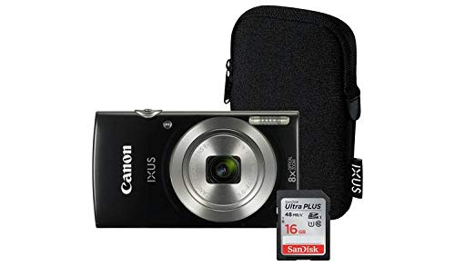 Canon IXUS 185 20MP 8x Zoom Kompaktkamera Bundle