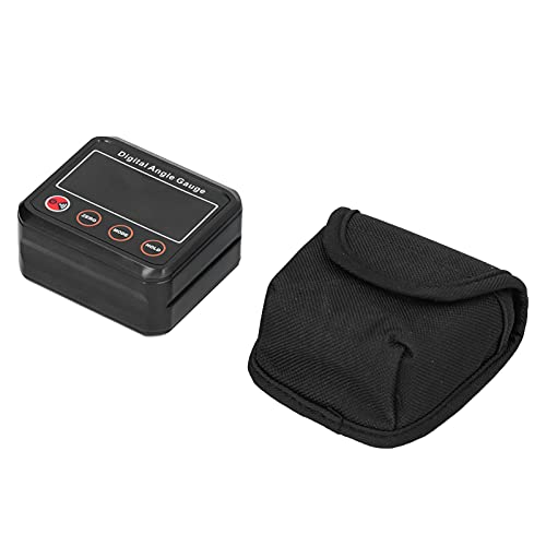 Transportador de nivel, indicador de ángulo LED duradero Multifuncional de alta precisión para indicador de bisel para medición de ángulos(DL1912)
