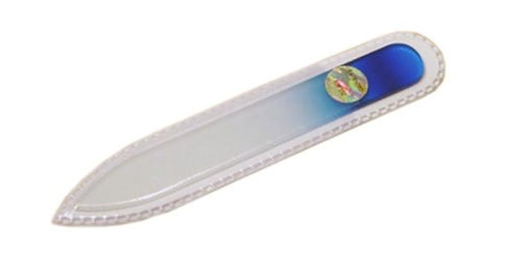 レンダー断片浮くブラジェク ガラス爪やすり 90mm 両面タイプ(ブルーグラデーション #02)