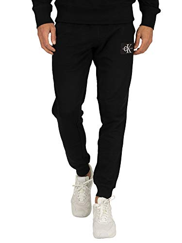 Calvin Klein Jeans Heren Joggingbroek met monogram, Zwart