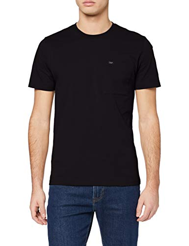 Lee Pocket tee Camiseta, Negro, M para Hombre
