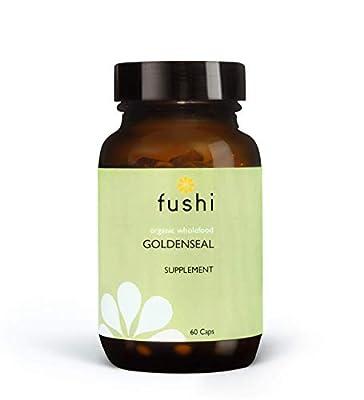 Fushi Organic Goldenseal Capsules, 60 Caps   Fresh-Ground Whole Food   Anti-inflammatory   Astringent & Antibiotic Properties   Ethical & Vegan   Indigenously Sourced   Made in the UK