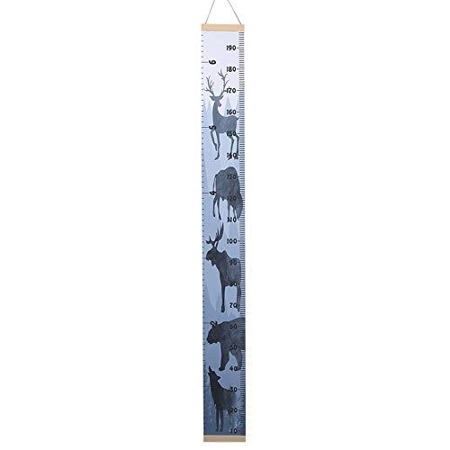 mothcattl Kinder Höhe Lineal DIY einfache kreative Dekoration Wandtattoo Wandaufkleber, Holz, Leinwand, 2#