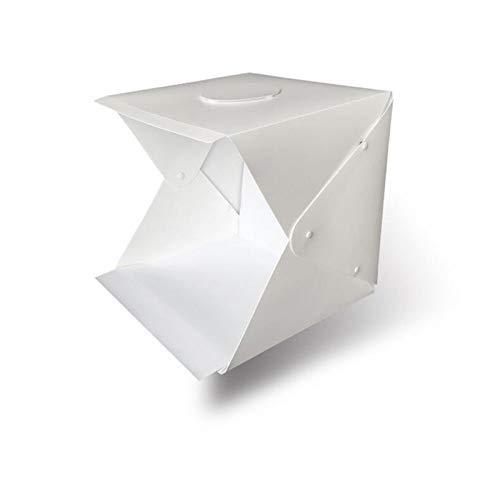 JHNEA Photo Studio Light Box 16Inch/ 40cm Portátil Plegable Gancho y Loop...