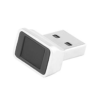 ONEVER Lecteur D'empreintes Digitales USB pour Windows 10 Bonjour 32/64 Bits Ordinateur Portable/PC Mini-Verrou de Sécurité Capteur Biométrique D'empreintes Digitales Scanner 360 ° Touch Speedy