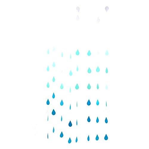 Rocinha Gradual Blue Colours Paper Raindrop Garland For Nursery decor April showers Spring Shower Raindrop Baby Shower