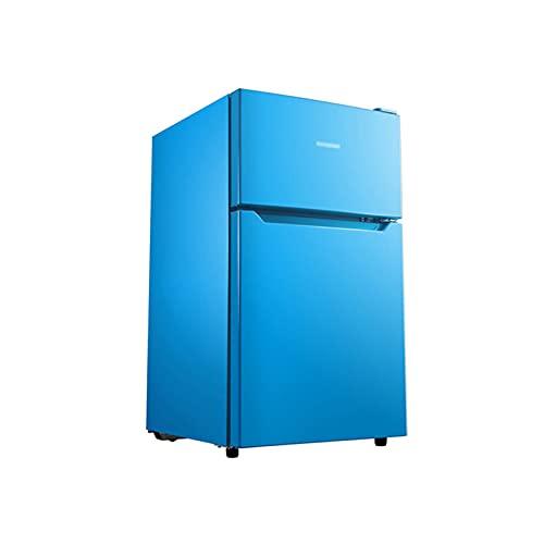 QINGZHUO Mininevera Portátil,refrigerador Pequeño Retro De Dos Puertas,Control De Temperatura De 7 Velocidades,silencioso,Ahorro De Energía.