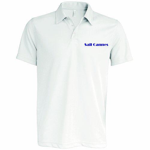 Sailmore UK - T-shirt de sport - Homme Blanc White, Blue Collar - Blanc - White, Blue Collar - XL