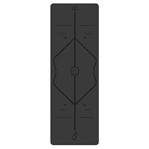 Kunyun Caucho Natural PU Espesado Yoga Mat Impermeable y Antideslizante los Deportistas Estera de la Aptitud de Tres Piezas Conjunto de 183cm x 68cm x 0.5cm (Color : D)