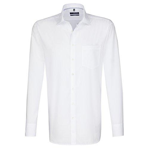 Seidensticker Herren Comfort Passform Bügelfrei Businesshemd, Weiß (Weiß 01), XX-Large (Herstellergröße: 45)