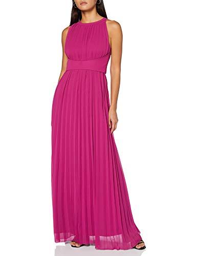 APART Fashion Damen Chiffon Dress Kleid für besondere Anlässe, Berry, 40