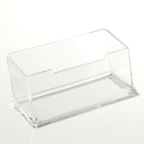TOOGOO(R) Support de carte de visite d'acrylique incolore en plastique