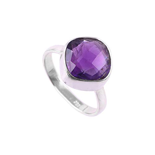 925 Sterling Silver Ring | Natural Amethyst Gemstone Ring for women |Natural Gemstone ring for Girls | Engagement Ring , Astrological Ring, Statement ring , Amethyst Ring | Ring size 5.5 US
