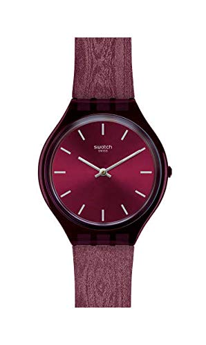 Swatch Damen Analog Schweizer Quarz Uhr mit Textil Armband SVOV101