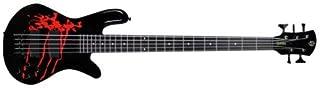 Spector LG5ALEXBKDP Legend 5 Alex Webster Bass Guitar in Solid Black Gloss with Drip Pattern