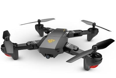 FOLDABLE DRONE with 3 SPARE BATTERIES, HD Cam, Virtual Reality, FPV, GPS, Micro SD memory, MAVIC PRO CLONE (3 BATTERIES)