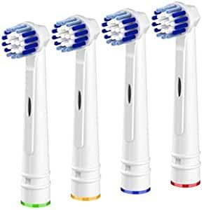 4er Aufsteckbürsten Kompatibel mit Oral B Elektrische Zahnbürsten,Profi Elektrische Zahnbürstenköpfe Ersatzbürsten Nachfüllung Precision Clean für Oral-b Braun