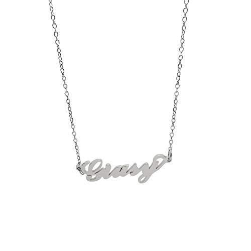Minamini Bijoux Collana in Acciaio Inossidabile con Il Nome in tantissimi Varianti, Ideale per Regalo di Tutte Le Occasioni (GIUSY)