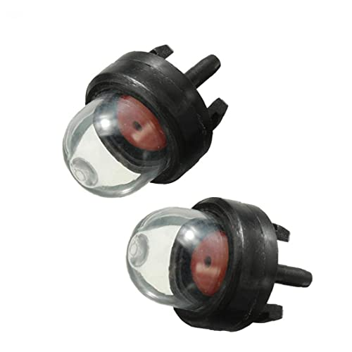 NaiCasy Kit de Bomba Burbuja 2pcs Mini carburador Aceite Bulbo plástico Gasolina Snap cebador de Combustible para el jardín Cortasetos cortadora de césped Motosierra Accesorios