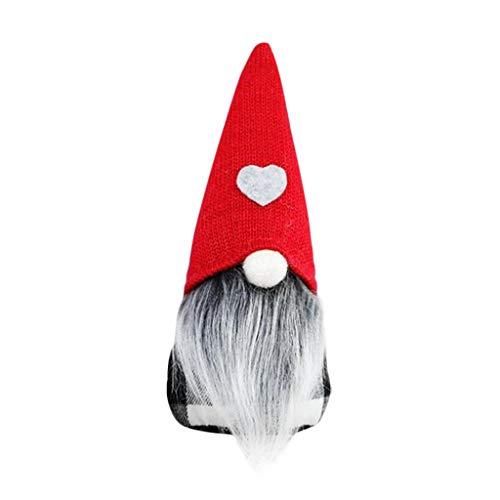 Pstarts Gnome Christmas Ornaments, Handmade Swedish Tomte Xmas Gnomes Plush Doll, Scandinavian Santa Elf Table Ornaments, Home Decor