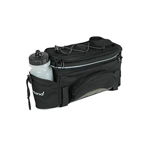 Haberland Fahrradtasche Gepäckträgeraufsatztasche Schwarz/Silber Klettband-Befestigung, GT9510 16