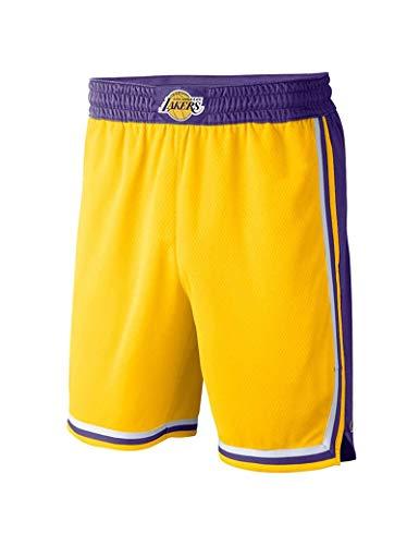 Kfdfns Pantalones Cortos De Baloncesto Juvenil Hombres NBA Los Angeles Lakers Pantalones Corto de Baloncesto Alta Elasticidad Deportivo Pantalones