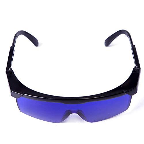 JoannaVI Laser-Augenschutz-Schutzbrille for Rot und UV-Laser mit Kasten, OD 4+ 190nm-550nm Wellenlänge Laserschutzbrillen Laserlicht for Haarentfernung Laser-Behandlung (Color : Blau)