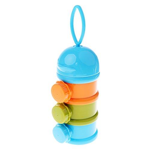 MagiDeal Boite de Lait en Poudre Bébé de 3 Couches en PP Qualité Alimentaire - Taille: 17x7.5cm - Bleu