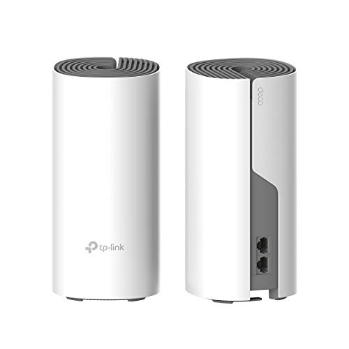 TP-LINK Deco Repetidor de WiFi, Super Mesh WiFi Smart sin interrupción AC1200 Dual-Band hasta 260m², 2 Puertos 100Mbps, hasta 100 Dispositivos, Ideal para xiaomi Mi Box, Amazon Alexa (E4-2Pack)