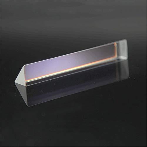 Toltec Lighting Optisches Prisma rechtwinkliges Prisma gleichseitig Mitsubishi Spiegelglaslinse Dekoration Lehre Wissenschaft Experiment Prisma, Refraktor Kristallprisma 14 * 14 * 87mm
