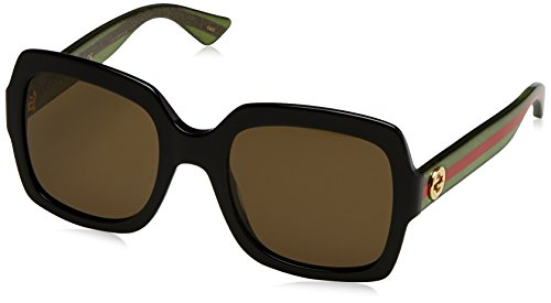 Fashion Shopping Gucci 0036S 002 Black 0036S Square Sunglasses Lens Category 3 Size 54mm