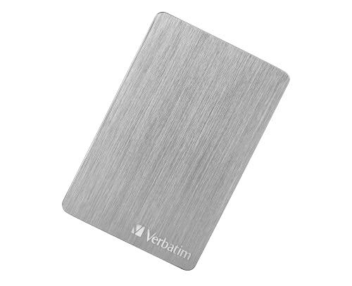 Verbatim Store 'n' Go ALU Slim I 2 TB I Argento I Hard Disk esterno I USB 3.2 GEN 1 I Hard Disk esterno in alluminio I per Windows & Mac OS X I Hard Disk portatile I USB