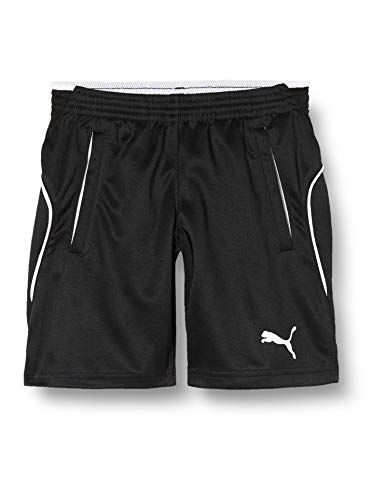 PUMA Kinder Hose Training Shorts, Schwarz, 128