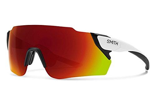 Smith Optics Attack Max Sunglasses, Matte White / ChromaPop Red Mirror / ChromaPop Contrast Rose