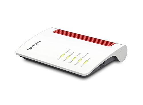 AVM FRITZ!Box 7530 International Modem Router, Wireless Veloce AC+N 1266 Mbit s, velocità Internet fino a 300 Mbit s, Base DECT, Media Server, interfaccia in italiano, Bianco Rosso