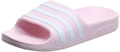 adidas Adilette Aqua K, Scarpe da Ginnastica, Clear Pink/Ftwr White/Clear Pink, 38 EU